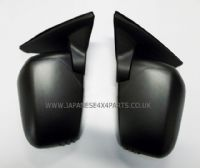 Mitsubishi L200 Pick Up 2.5DID - B40 - KB4T (03/2006-03/2015) - Door Mirror Black Manual Pair